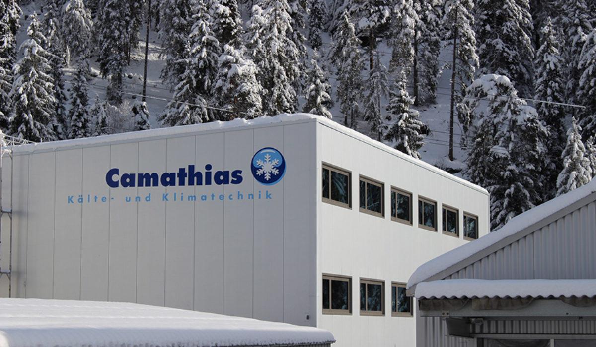 Beschriftung Camathias Kälte