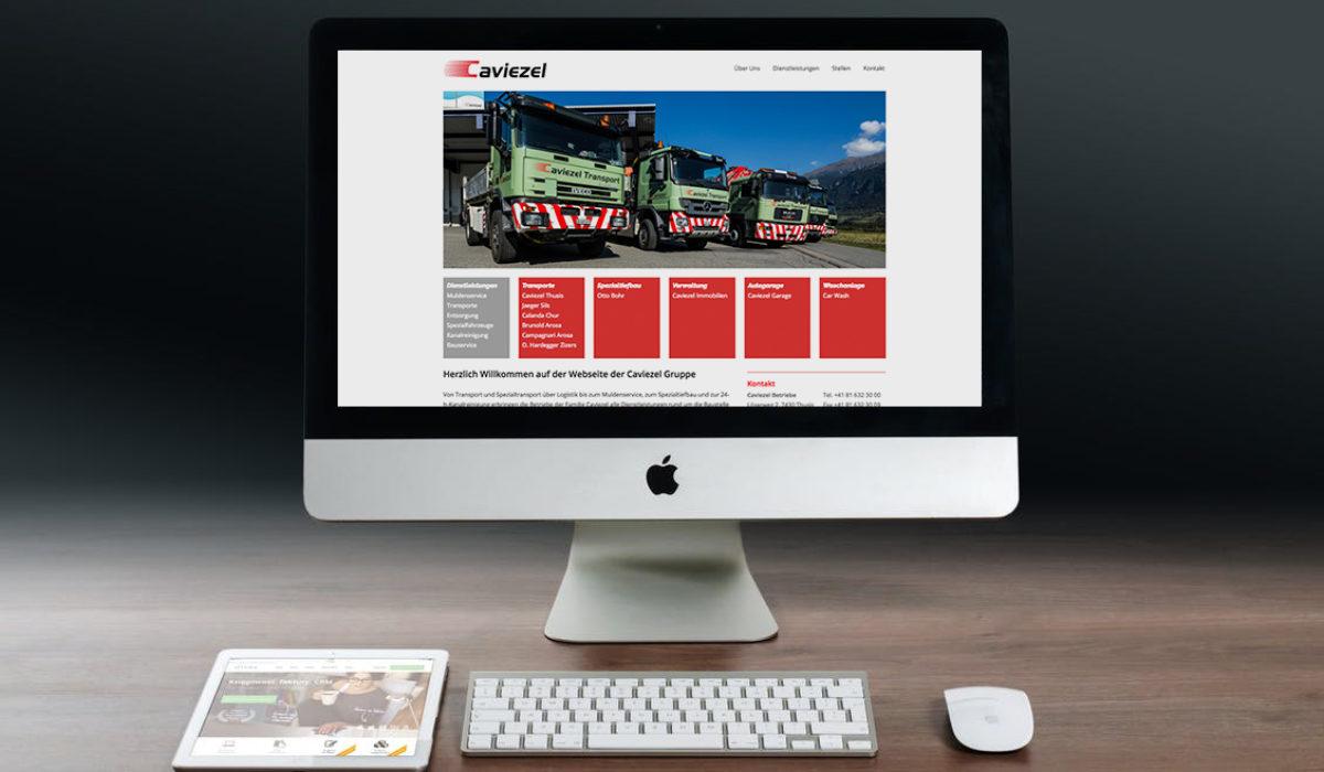 Webseite Caviezel Gruppe