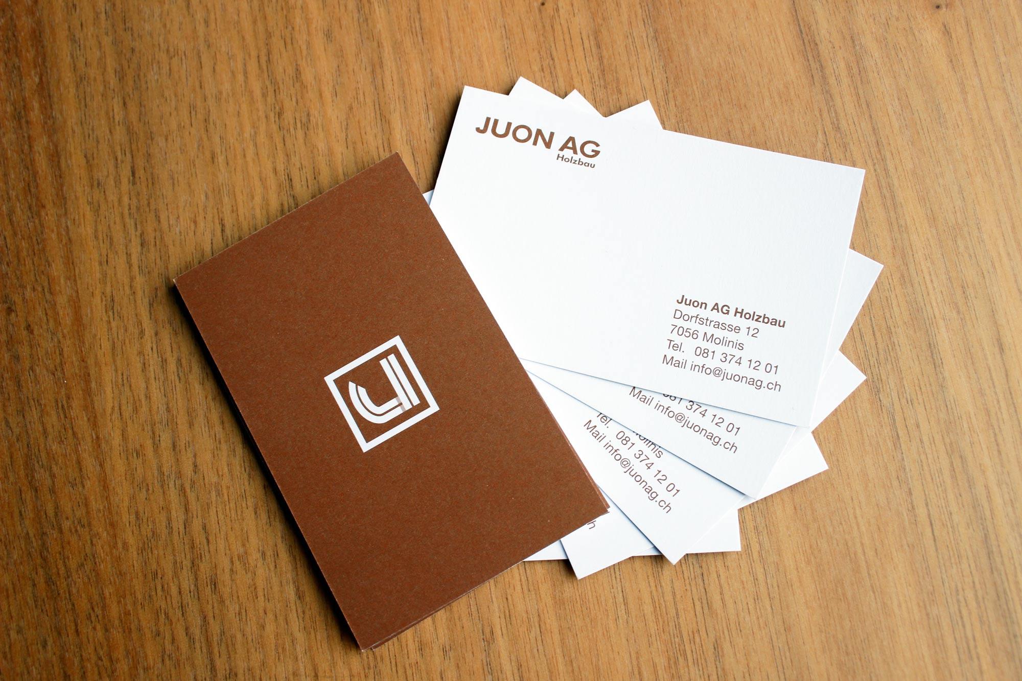 Visitenkarte Juon AG