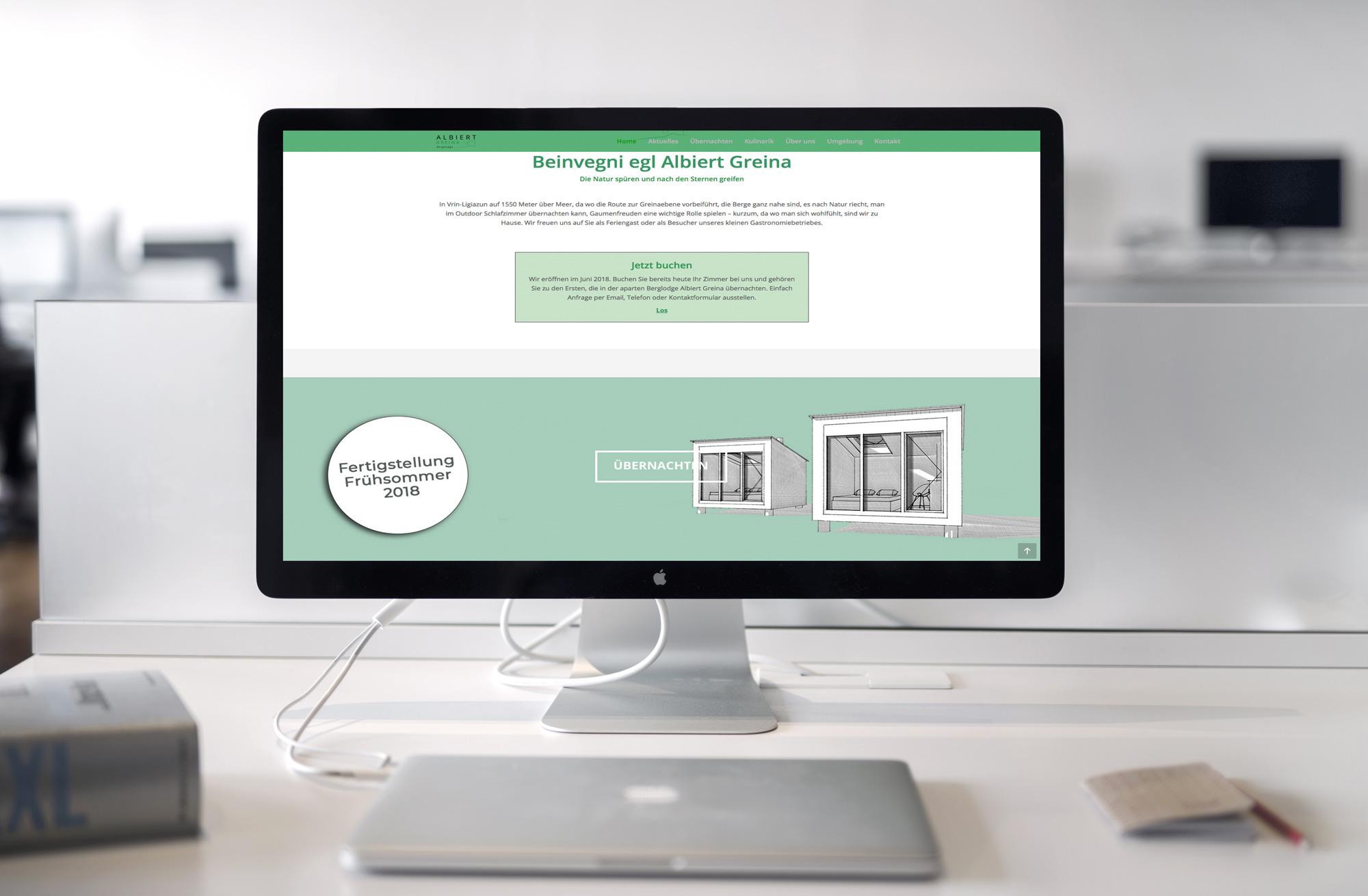 Albiert Greina Berglodge Webseite