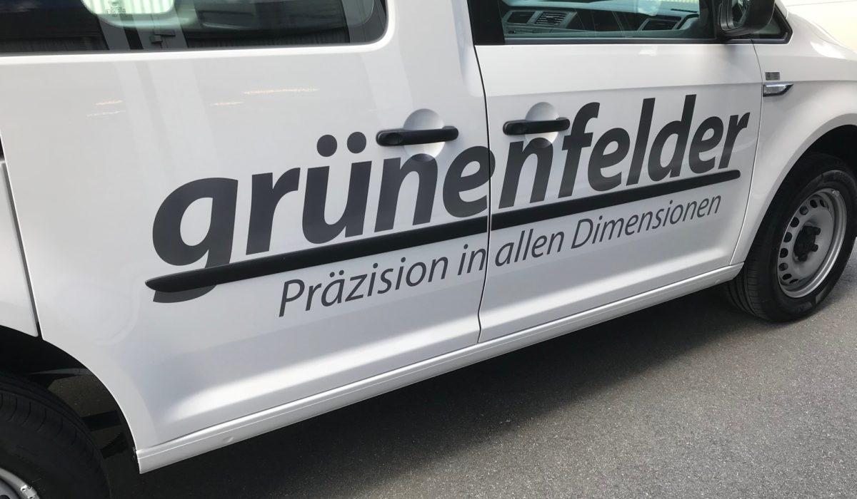 Fahrzeugbeschriftung Grünenfelder