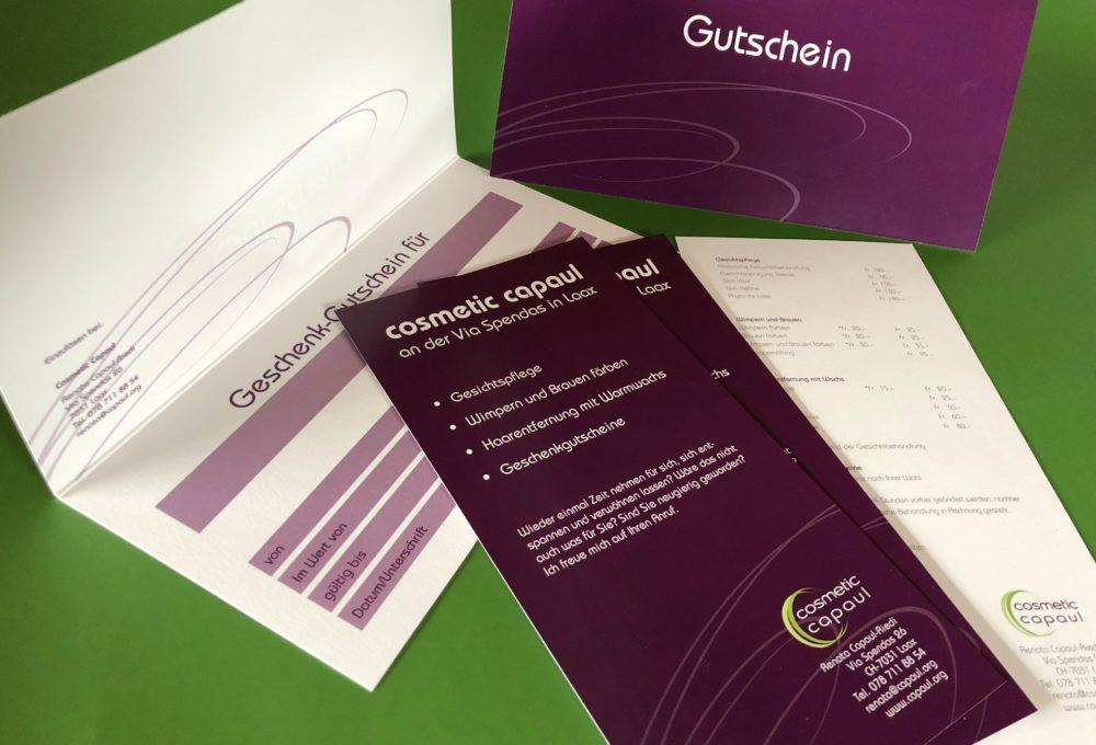 Cosmetic Capaul Gutscheine und Flyer
